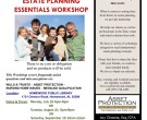 Estate Planning Workshops Summer 2012