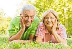 A senior couple
